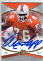 WARREN SAPP UNIVERSITY OF MIAMI AUTOGRAPHED FOOTBALL CARD #83113B