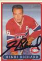 Henri Richard Autographed Hockey Card 858