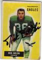 DICK BIELSKI PHILADELPHIA EAGLES AUTOGRAPHED VINTAGE FOOTBALL CARD #90213i