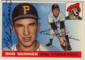 BOB SKINNER PITTSBURGH PIRATES AUTOGRAPHED VINTAGE BASEBALL CARD #90313N