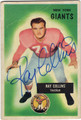 RAY COLLINS NEW YORK GIANTS AUTOGRAPHED VINTAGE FOOTBALL CARD #90113J