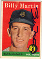 BILLY MARTIN DETROIT TIGERS AUTOGRAPHED VINTAGE BASEBALL CARD #90213B