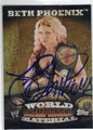 BETH PHOENIX AUTOGRAPHED WRESTLING CARD #90213H