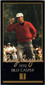 BILLY CASPER AUTOGRAPHED GRAND SLAM VENTURES GOLF CARD #90213O