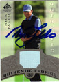NICK FALDO AUTOGRAPHED PIECE OF THE GAME GOLF CARD #90513E
