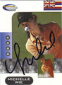 MICHELLE WIE AUTOGRAPHED GOLF CARD #90611J