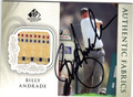 BILLY ANDRADE AUTOGRAPHED PIECE OF THE GAME GOLF CARD #90313G