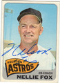 NELLIE FOX HOUSTON ASTROS AUTOGRAPHED VINTAGE BASEBALL CARD #90513J