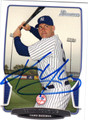 KEVIN YOUKILIS NEW YORK YANKEES AUTOGRAPHED BASEBALL CARD #90713M