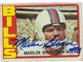 MARLIN BRISCOE BUFFALO BILLS AUTOGRAPHED VINTAGE FOOTBALL CARD #90813B