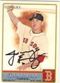 JACOBY ELLSBURY BOSTON RED SOX AUTOGRAPHED BASEBALL CARD #90813F