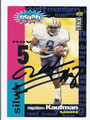 NAPOLEON KAUFMAN AUTOGRAPHED FOOTBALL CARD #90910D