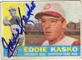 EDDIE KASKO CINCINNATI REDS AUTOGRAPHED VINTAGE BASEBALL CARD #90913D