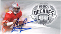 CRIS CARTER OHIO STATE BUCKEYES AUTOGRAPHED FOOTBALL CARD #90913E
