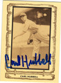 CARL HUBBARD NEW YORK GIANTS AUTOGRAPHED VINTAGE BASEBALL CARD #91013A