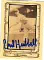 CARL HUBBARD NEW YORK GIANTS AUTOGRAPHED VINTAGE BASEBALL CARD #91013A