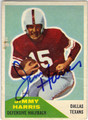 JIMMY HARRIS DALLAS TEXANS AUTOGRAPHED VINTAGE FOOTBALL CARD #91013M