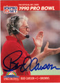 BUD CARSON AUTOGRAPHED FOOTBALL CARD #91112J