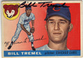 BILL TREMEL CHICAGO CUBS AUTOGRAPHED VINTAGE BASEBALL CARD #91113J