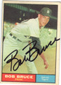 BOB BRUCE DETROIT TIGERS AUTOGRAPHED VINTAGE BASEBALL CARD #91213B