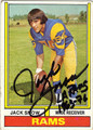 JACK SNOW LOS ANGELES RAMS AUTOGRAPHED VINTAGE FOOTBALL CARD #91213G