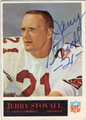 JERRY STOVALL ST LOUIS CARDINALS AUTOGRAPHED VINTAGE FOOTBALL CARD #91213K