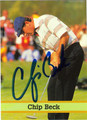 CHIP BECK AUTOGRAPHED GOLF CARD #91311C