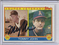 Tommy John Autographed Baseball Card #91410C