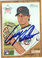 CASEY COLEMAN AUTOGRAPHED ROOKIE BASEBALL CARD #91411B