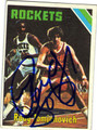 RUDY TOMJANOVICH HOUSTON ROCKETS AUTOGRAPHED VINTAGE BASKETBALL CARD #91313B