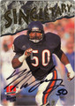 MIKE SINGLETARY CHICAGO BEARS AUTOGRAPHED FOOTBALL CARD #91413D