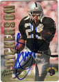 ERIC DICKERSON ATLANTA FALCONS AUTOGRAPHED FOOTBALL CARD #91513B