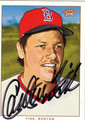CARLTON FISK AUTOGRAPHED BASEBALL CARD #91512L