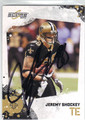 JEREMY SHOCKEY NEW ORLEANS SAINTS AUTOGRAPHED FOOTBALL CARD #91513D