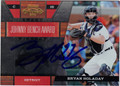 BRYAN HOLADAY AUTOGRAPHED ROOKIE BASEBALL CARD #91512N
