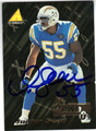 JUNIOR SEAU SAN DIEGO CHARGERS AUTOGRAPHED FOOTBALL CARD #91513i