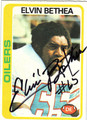 ELVIN BETHEA AUTOGRAPHED VINTAGE FOOTBALL CARD #91812M