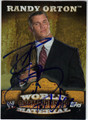 RANDY ORTON AUTOGRAPHED WRESTLING CARD #91712N