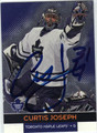 CURTIS JOSEPH AUTOGRAPHED HOCKEY CARD #91912D