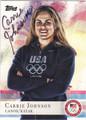 CARRIE JOHNSON AUTOGRAPHED OLYMPIC CANOE/KAYAK CARD #91913E