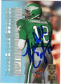 RANDALL CUNNINGHAM AUTOGRAPHED FOOTBALL CARD #91812P