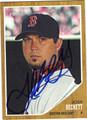 JOSH BECKETT AUTOGRAPHED BASEBALL CARD #92112F