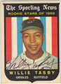 WILLIE TASBY AUTOGRAPHED VINTAGE ROOKIE BASEBALL CARD #92012P