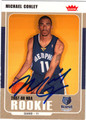 MICHAEL CONLEY AUTOGRAPHED ROOKIE BASKETBALL CARD #92212H