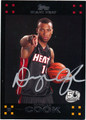 DAEQUAN COOK AUTOGRAPHED ROOKIE BASKETBALL CARD #91912Q