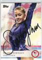 SHAWN JOHNSON AUTOGRAPHED OLYMPIC GYMNASTICS CARD #91913C