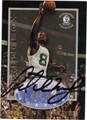 ANTOINE WALKER BOSTON CELTICS AUTOGRAPHED BASKETBALL CARD #92013H