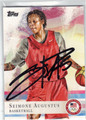 SEIMONE AUGUSTUS AUTOGRAPHED OLYMPIC BASKETBALL CARD #92213E