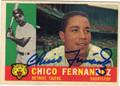 CHICO FERNANDEZ DETROIT TIGERS AUTOGRAPHED VINTAGE BASEBALL CARD #92213K