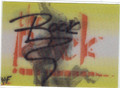 "DWAYNE ""THE ROCK"" JOHNSON AUTOGRAPHED WRESTLING CARD #92313i"